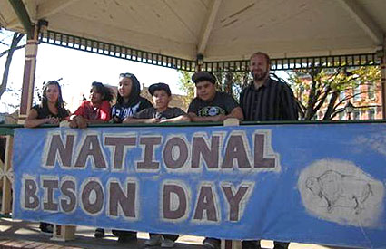 The Wind River Ranch Foundation hosted a National Bison Day event in Las Vegas, NM, which drew the participation of nearly 150 people. (Nov. 2012) <b>&copy;Wind River Ranch Foundation</b>