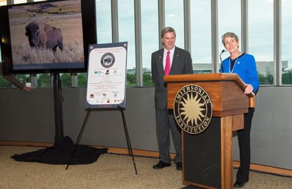 The Vote Bison Coalition held a special reception at the Smithsonian Institution's National Museum of the American Indian to celebrate the adoption of the North American bison as America's national mammal.