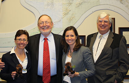 Representative Don Young (AK-At Large) [2nd from left], who is a cosponsor of legislation to designate bison as the National Mammal of the United States, met with representatives of the Wildlife Conservation Society. (Jan. 2013) <b>&copy;Office of Rep. Don Young</b>
